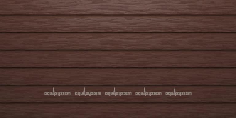 Металлический сайдинг AQUASYSTEM узкая скандинавская доска узкая Pural 154 мм. Цвет RAL коричневый