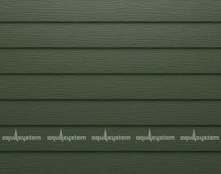 Металлический сайдинг AQUASYSTEM узкая скандинавская доска Pural 154 мм. Цвет Маренго RR11 темно-оливковый