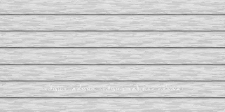 Металлический сайдинг AQUASYSTEM узкая скандинавская доска Pural 154 мм. Цвет RR20 мраморно-белый
