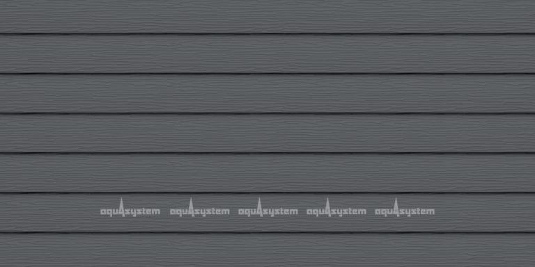 Металлический сайдинг AQUASYSTEM узкая скандинавская доска узкая Pural 154 мм. Цвет Маренго RR23 серый