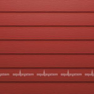 Металлический сайдинг AQUASYSTEM узкая скандинавская доска Pural 154 мм. Цвет Маренго RR29 бургундский красный