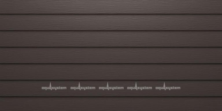 Металлический сайдинг AQUASYSTEM узкая скандинавская доска Pural 154 мм. Цвет RR32 темно-коричневый