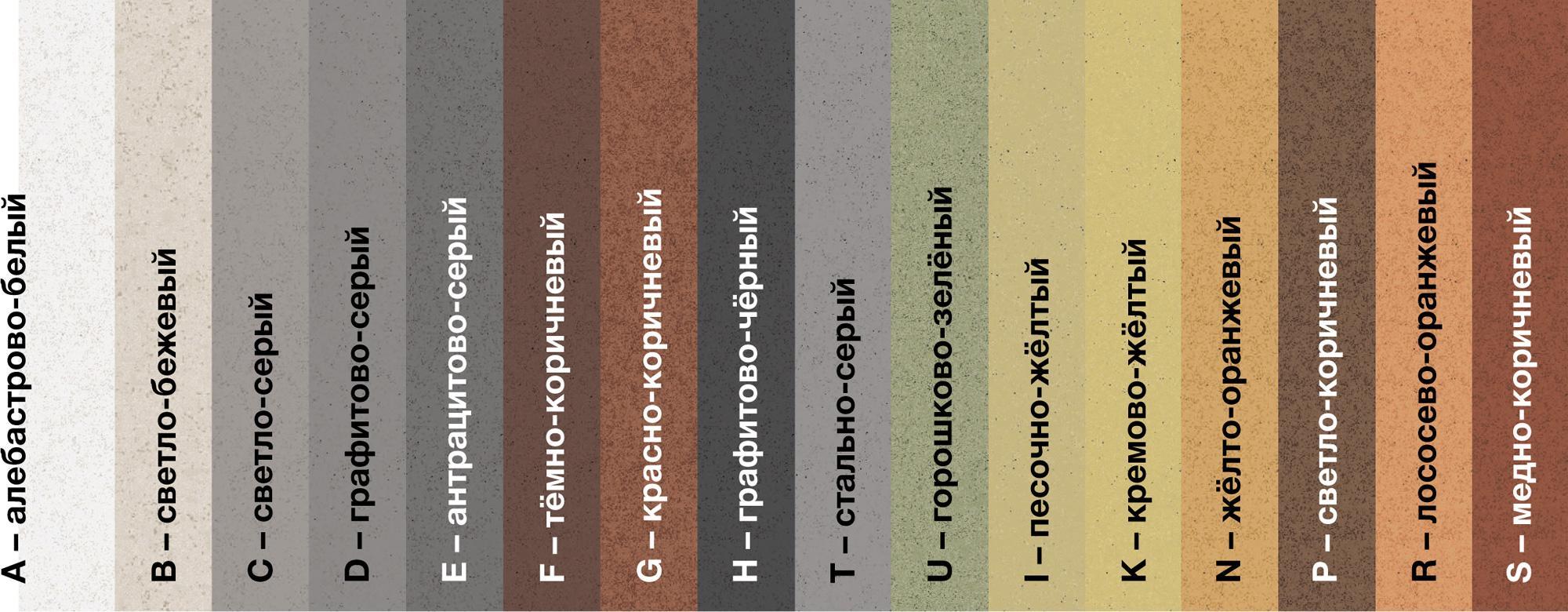 Возможные цвета кладочного раствора Quick-mix VM-01