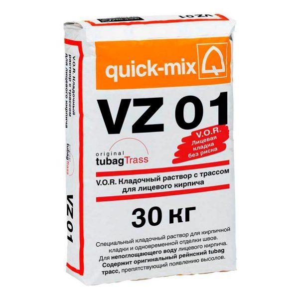 Quick-mix VK 01 кладочный раствор для лицевого кирпича с водопоглощением 2-5%