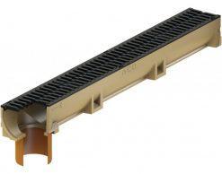Водоотводный канал ACO Self Euroline (с чугунной решеткой и выпускным патрубком DN 100)