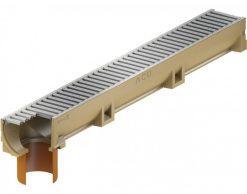 Водоотводный канал ACO Self Euroline (с оцинкованной решеткой и выпускным патрубком DN 100)