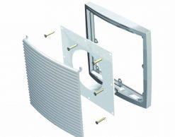 Фланец вентиляционной решетки 200 мм (375×375)