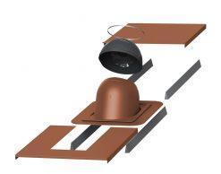 PIIPPU проходной элемент с окантовкой No.1 для круглых труб Ø 200 — 265 мм