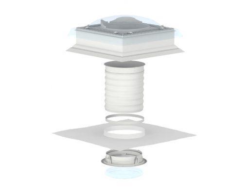 VELUX TCF 0010 (ВЕЛЮКС) мансардное окно - световой туннель с гибкой трубой для установки в проскую кровлю