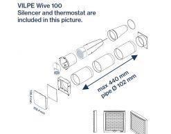 WIVE 100 приточный клапан с термостатом