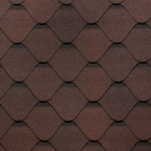 Гибкая битумная черепица Docke (Деке) Ницца, цвет-какао