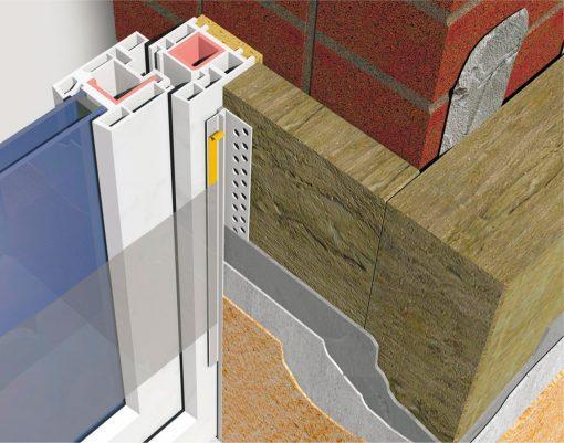 Profil Systems профиль примыкающий оконный 6 мм, без пыльника, усиленный, 2.4м