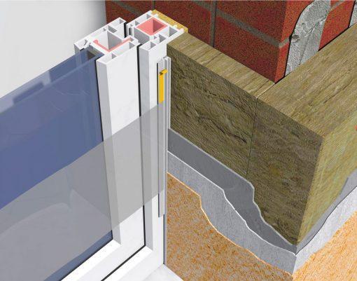 Profil Systems профиль примыкающий оконный 9 мм, с пыльником, 2,4м