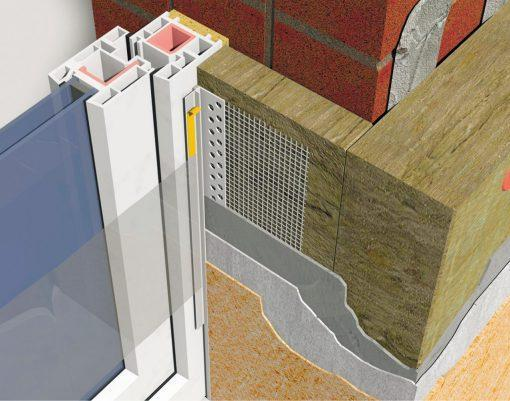 Profil Systems профиль примыкающий оконный 9 мм, с сеткой, без пыльника, усиленный, 2.4 м