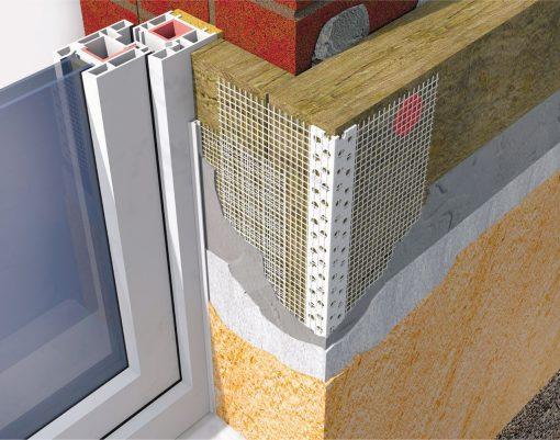 Profil Systems угловой армирующий профиль с сеткой формата 10+10 см