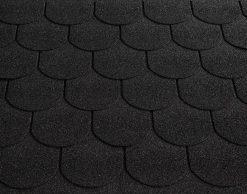 Roofshield (Руфшилд) ФЕМИЛИ ЭКО ЛАЙТ Готик, цвет - графитно черный (FL-G-47)