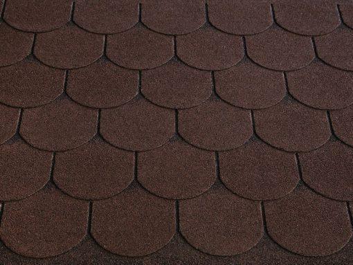 Roofshield (Руфшилд) ФЕМИЛИ ЛАЙТ Готик, цвет - коричневый с оттенением (FL-G-52)