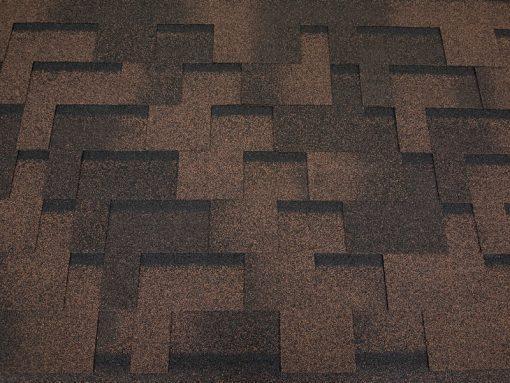 Roofshield (Руфшилд) ФЕМИЛИ ЭКО ЛАЙТ Модерн, цвет - коричневый с оттенением (FL-M-49)