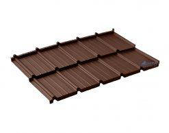 Dachpol FUTURA модульная металлочерепица SSAB Rought matt RR 887 шоколадный (коричневый)