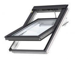 VELUX INTEGRA GGL 206821 белое окрашенное деревянное мансардное окно с дистанционным управлением и (2-х) двухкамерным стеклопакетом