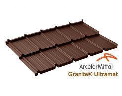 Dachpol FUTURA модульная металлочерепица ArcelorMittal Ultramat RAL шоколадный (коричневый)