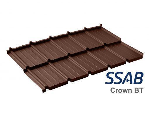 Dachpol FUTURA модульная металлочерепица SSAB Crown BT RR 887 шоколадный (коричневый)