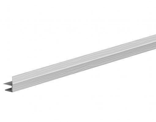 F-профиль алюминиевый с покрытием Polyester мраморно-белый (RR20)