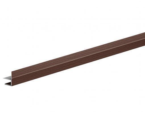 F-профиль металлический с матовым покрытием GreenCoat Pural BT коричневый матовый (RAL8017 МАТТ)