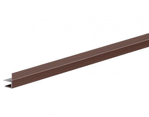 F-профиль металлический с покрытием GreenCoat Pural BT коричневый (RAL8017)