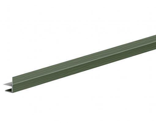 F-профиль металлический с покрытием GreenCoat Pural BT тёмно-оливковый (RR11)