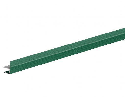 F-профиль металлический с покрытием GreenCoat Pural BT зеленый мох (RAL6005)