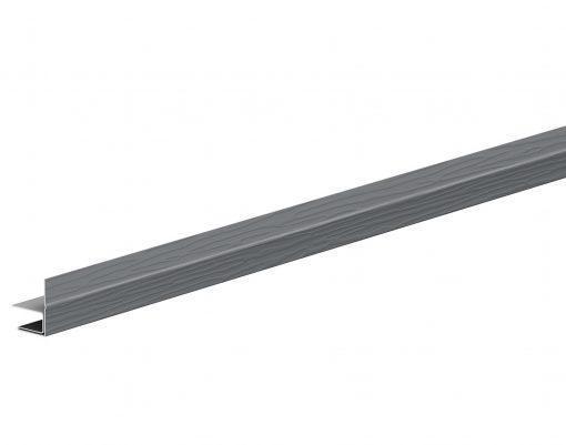 F-профиль металлический с покрытием Polyester маренго (RR23)