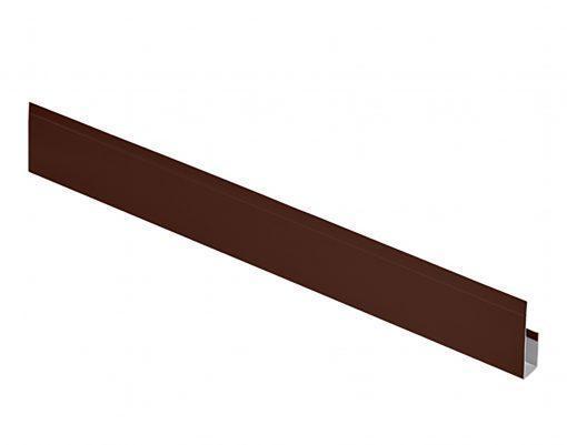 G-планка алюминиевая Polyester коричневая (RAL8017)