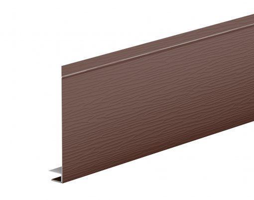 J-фаска оцинкованная AquaSystem матовый GREENCOAT PURAL BT коричневый (RAL8017)