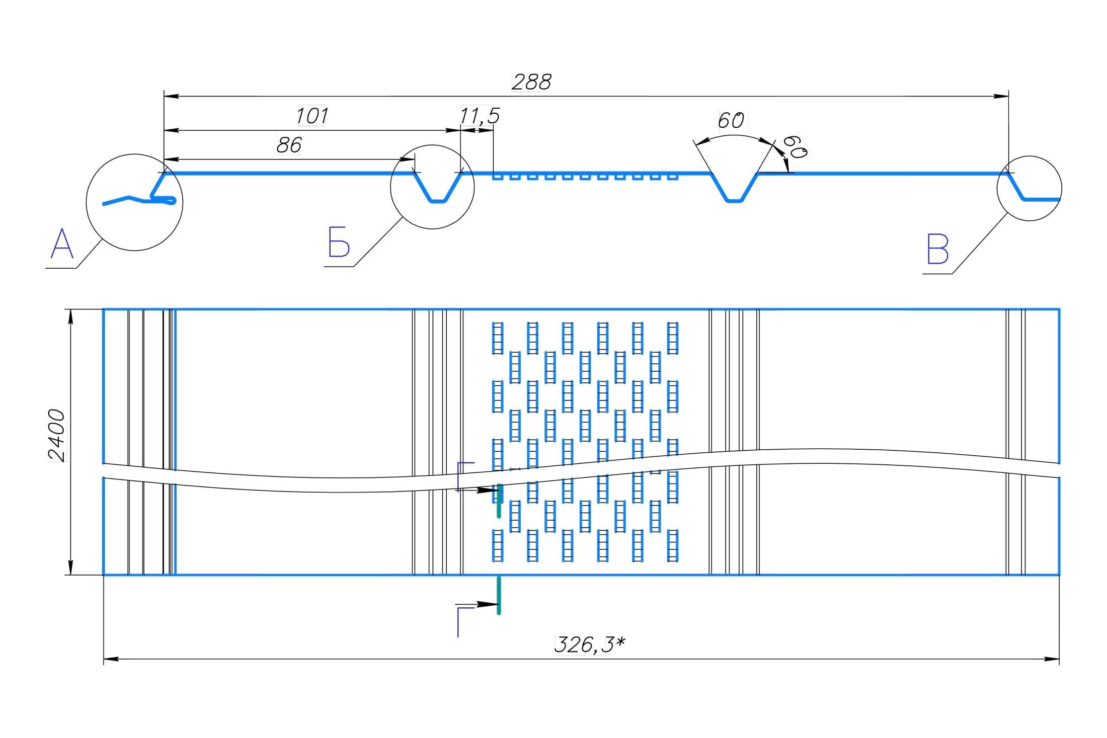 Размеры Софита металлического AquaSystem