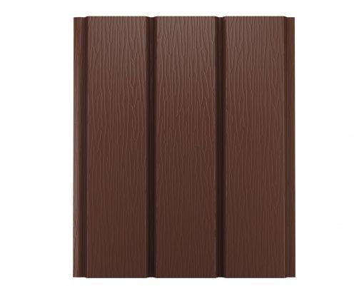 Софит алюминиевый без перфорации Polyester коричневый (RAL8017)
