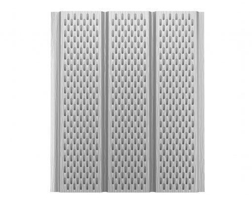 Софит алюминиевый с полной перфорацией Polyester мраморно-белый (RR20 PE)