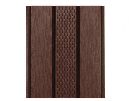 Софит с центральной перфорацией GreenCoat коричневый (RAL8017)