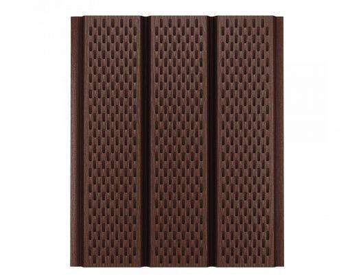Софит с полной перфорацией коричневый (RAL8017) GreenCoat Pural BT