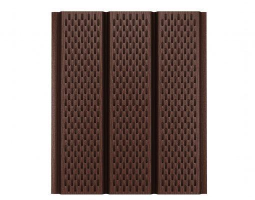 Софит с полной перфорацией коричневый (RAL8017) Polyester