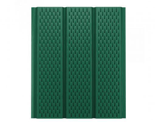 Софит с полной перфорацией зелёный мох (RAL6005) GreenCoat Pural BT