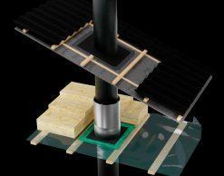 Tectis Kaulux d100 мм уплотнитель для герметичного прохода через пароизоляцию, пароизоляционную пленку