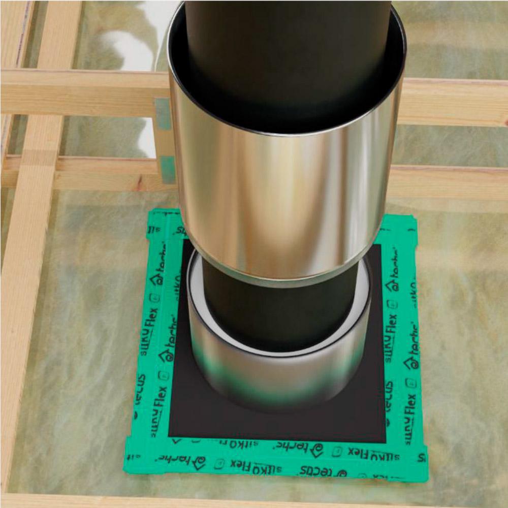 Tectis Kaulux D75 уплотнительный фланец из ЭПДМ-резины для трубы 120-170 мм