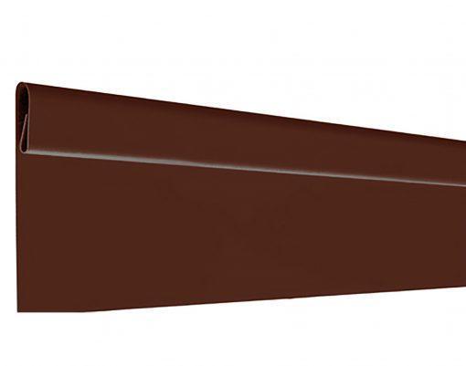 Финишная планка с матовым покрытием GreenCoat Pural BT коричневый (RAL8017)