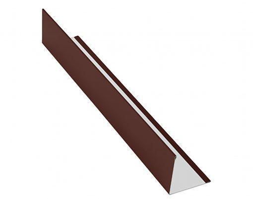 Планка угловая AquaSystem Polyester коричневый (RAL8017)