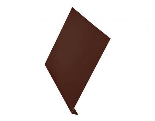 Ветровая планка алюминиевая AquaSystem Polyester коричневый (RAL8017)