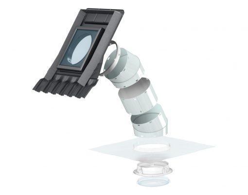 VELUX TWR световой туннель с жёсткой трубой для монтажа в профилированный кровельный материал