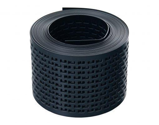 Лента сетка вентиляционная карнизного свеса пвх от насекомых цвет черный ral 9004 100 мм x 5 м