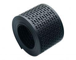 Лента сетка вентиляционная карнизного свеса пвх от насекомых цвет черный ral 9004 80 мм x 5 м