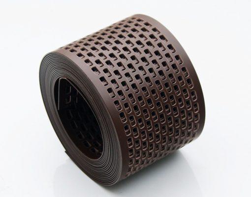 Лента сетка вентиляционная карнизного свеса пвх от насекомых цвет коричневый ral 8017 80 мм x 5 м